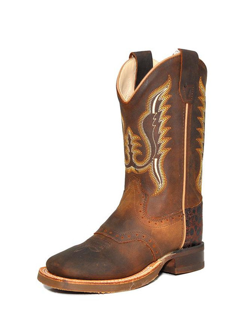 OLDWEST RUBBER CORDED DISTRESS BROWN - BOOT KIDS BOYS - BSC1845