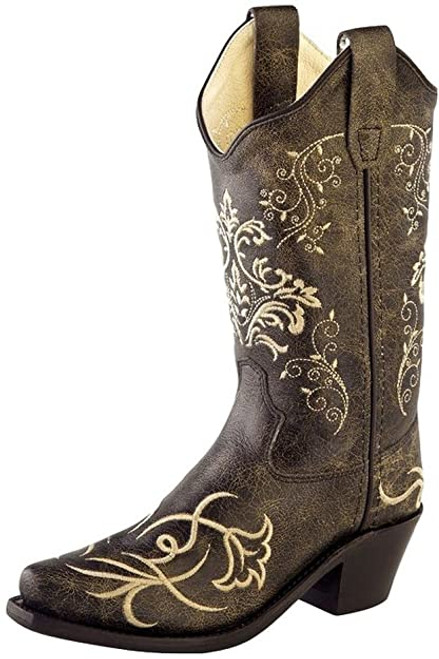 EMBROIDERED POINTED TOE COWBOY - BOOT KIDS BOYS - CF8222
