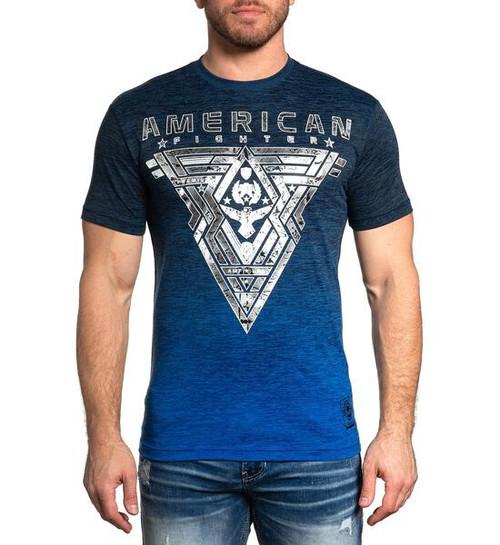 AMERICAN FIGHTER ELMORE INK BLUE - MENS TEE   - FM12506