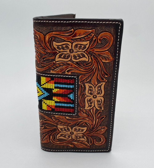 TWISTED X RODEO RED BLUE YELLOW BEADED - ACCESSORIES WALLET   - XH-251R