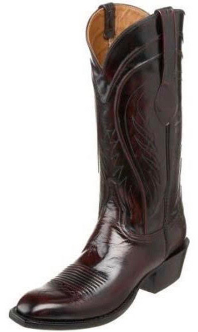 LUCCHESE CLASSIC BLACK CHERRY GOAT SKIN - BOOT MENS WESTERN - GC9197.13