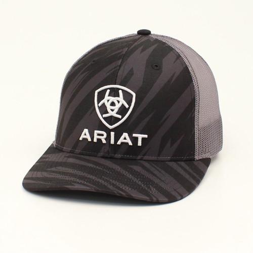 ARIAT ZIG ZAG SHIELD LOGO BLACK - HATS CAP   - A300016901