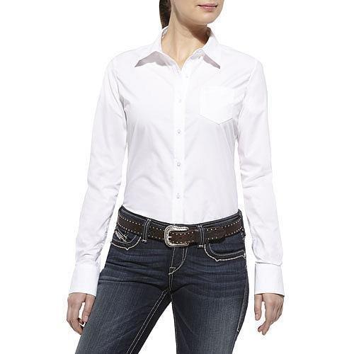 ARIAT CLASSIC KIRBY SHIRT WHITE - LADIES SHIRT   - 10013056