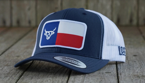 LOST CALF PATCH STITCH LOGO WITH A STAR - HATS CAP   - TEXAS FLAG PATCH