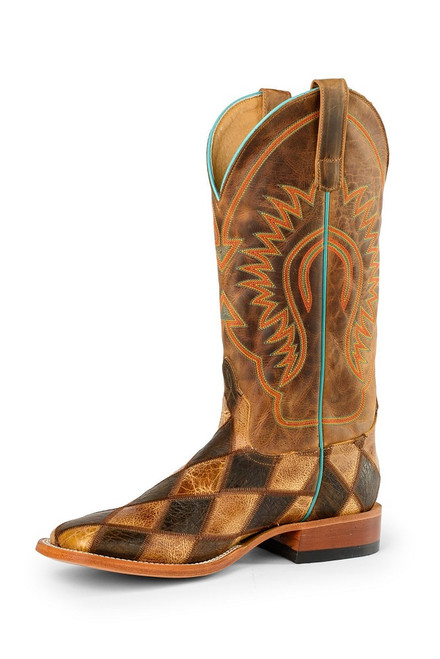 HORSE POWER CRAZY TRAIN PATCHWORK - BOOT MENS WESTERN - HP1053