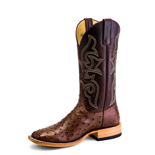 HORSE POWER KANGO TOBACCO QUILL OSTRICH - BOOT MENS WESTERN - HP-8001