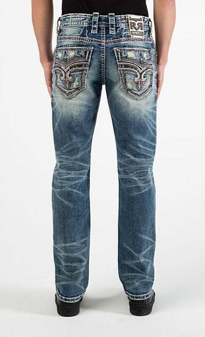 ROCK REVIVAL FAWN STRAIGHT - MENS JEANS   - RP3630J202