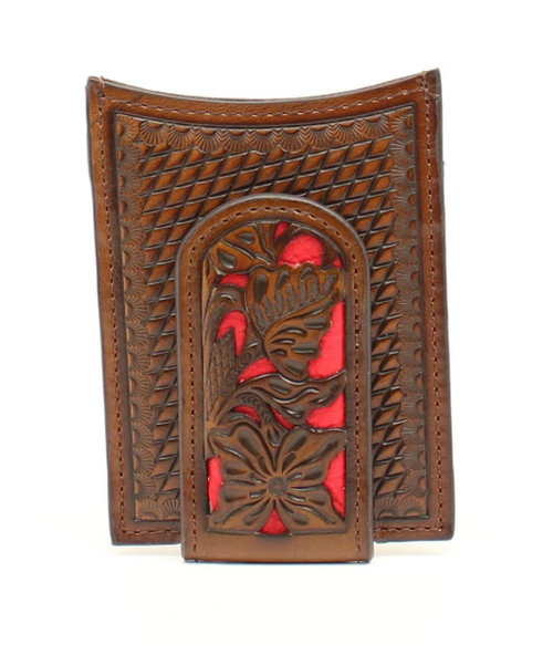 NOCONA MONEY CLIP TOOLED RED INLAY - ACCESSORIES WALLET   - N5426504