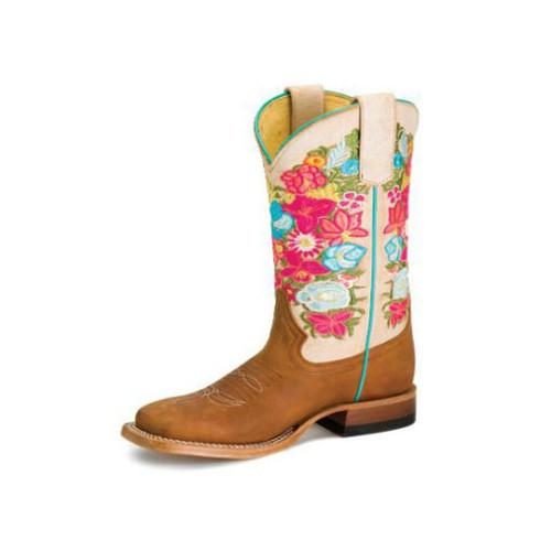 MACI BEAN BOOTS FLOWER EMBROIDERY - BOOT KIDS GIRLS - MK-9161