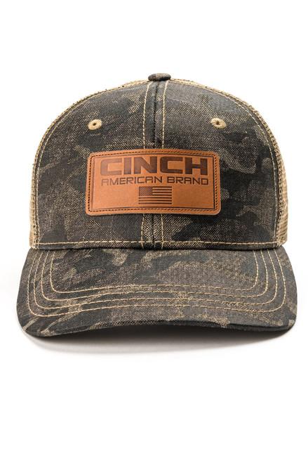 CINCH CAMO PRINT LEATHER PATCH - HATS CAP   - MCC0038019