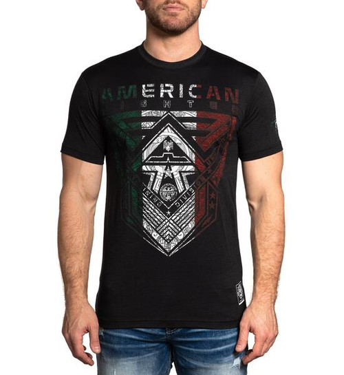 AMERICAN FIGHTER LANAGAN SS  PITCH BLACK MEXICO - MENS TEE   - FM12805