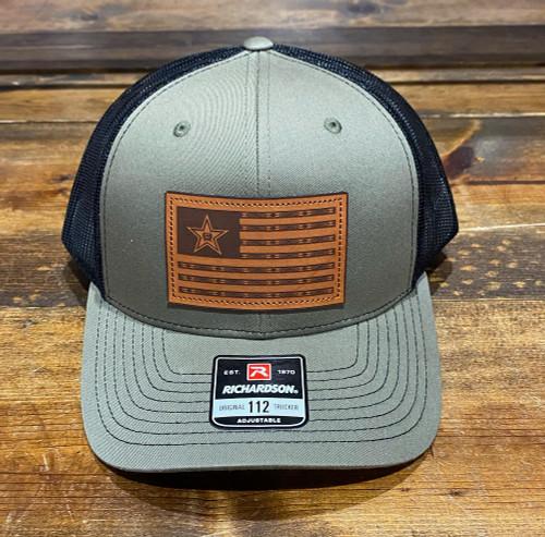CINCH USA FLAG PATCH OLIVE BLACK - HATS CAP   - MCC0800013