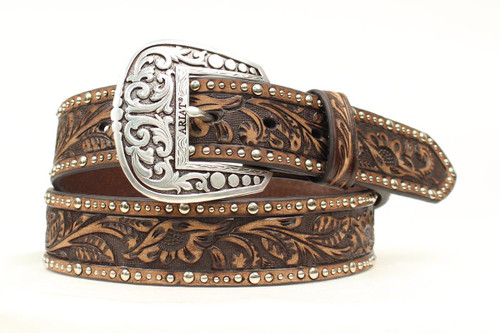 ARIAT EMBOSSED STRAP NAILED EDGES - ACCESSORIES BELT LADIES - A1513802