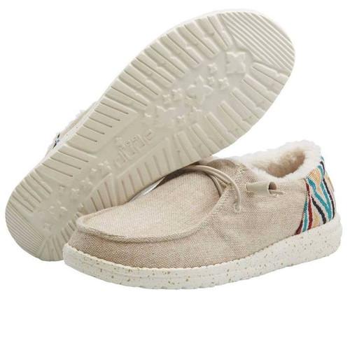 HEY DUDE WENDY FUNK WOOL BEIGE - FOOTWEAR LADIES   - 121410544