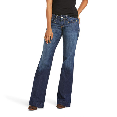 ARIAT LUCY WIDE LEG TROUSER MID RISE - LADIES JEANS   - 10028925