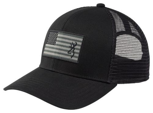 BROWNING GLORY USA FLAG BLACK BUCK LOGO - HATS CAP   - 308396991