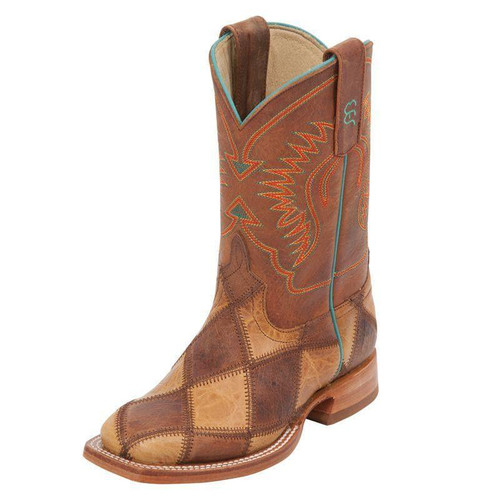 HORSE POWER YOUTH CRAZY TRAIN PATCHWORK - BOOT KIDS BOYS - HPK-1053