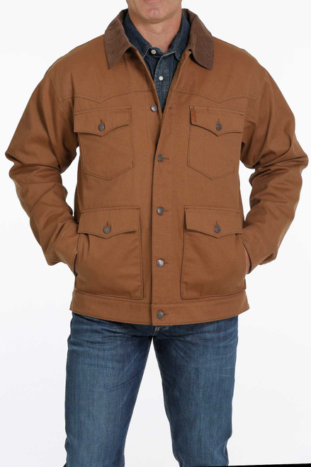 CINCH CANVAS BROWN FLANNEL LINED - MENS JACKET   - MWJ1551001