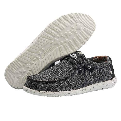 HEY DUDE WALLY SOX BLACK WHITE - FOOTWEAR MEN'S   - 110354912