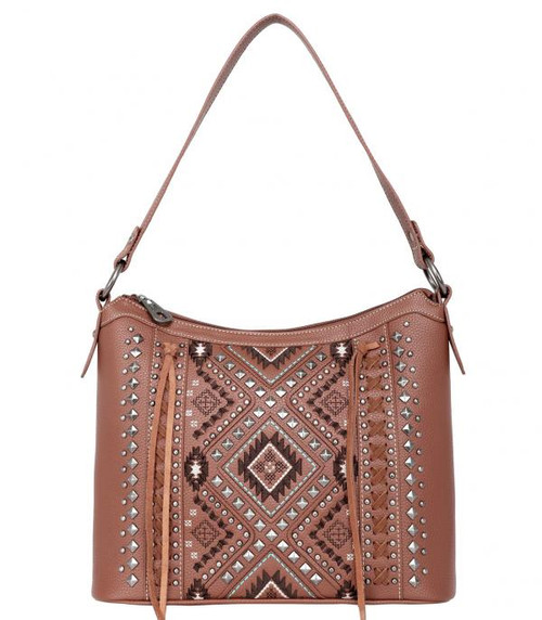 MONTANA WEST AZTEC CONCEALED CARRY BROWN - LADIES PURSES   - MW1016G-918BR