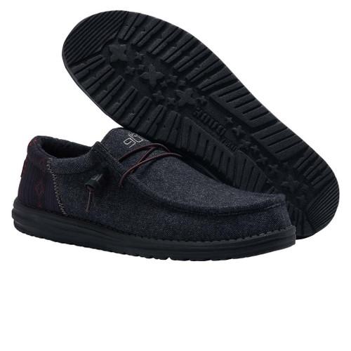 HEY DUDE WALLY FUNK WOOL BLACK - FOOTWEAR MEN'S   - 110414781