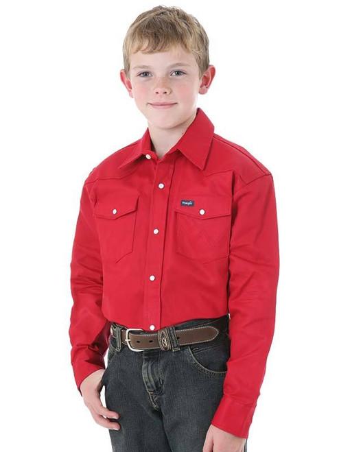 WRANGLER BOY'S COWBOY CUT® RED SNAP - KIDS BOYS SHIRT - BW1321R