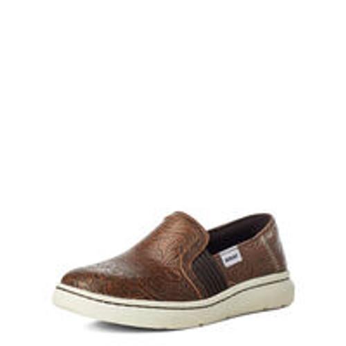 ARIAT RYDER BROWN FLORAL EMBOSS - FOOTWEAR LADIES   - 10035765
