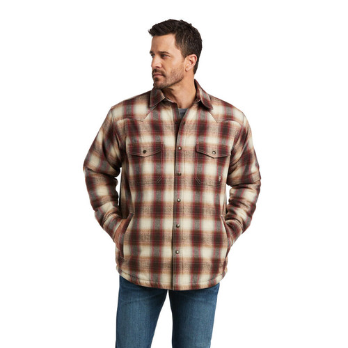 ARIAT INSULATED BROWN SHIRT JACKET - MENS JACKET   - 10037009