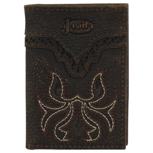 JUSTIN  TRIFOLD BOOT STITCH - ACCESSORIES WALLET   - 2122765W4