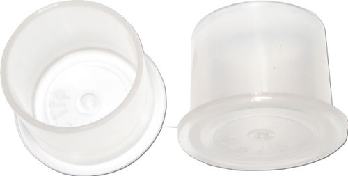 Ink Cups with Foot Base (No Spill) - Clear - 14mm