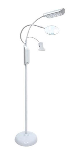 LED White Floor Light with Magnifier and Clip