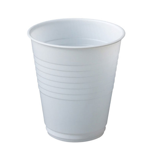 Plastic Water Cup, White - Box of 1000