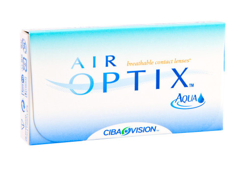 Air Optix Aqua 3 Pack Front