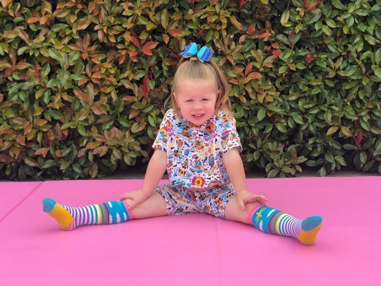 Rainbow Kids Knee High Socks!