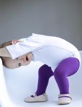 Pima cotton tights in purple