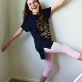 Pima Cotton Kids Capri Leggings in Pink.