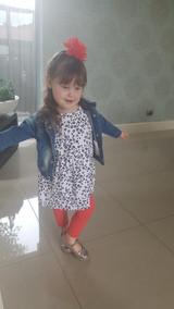Pima Cotton Kids Capri Leggings in Strawberry.