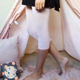 Pima Cotton Kids Capri Leggings in Pink for Tweens.