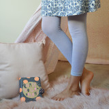 Kids Sparkly Leggings in Silver.