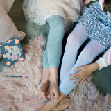 Grey Lux Ribbed Leggings (Left) and the Silver Kids Sparkly Leggings (Left).
