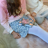 Kids Sparkly Tights in silver
