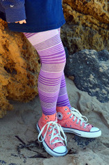 Here are our purple tights in action.    Pic credit: Hannah Tyrell Designs