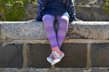 Taken a break in our purple striped tights.    Pic credit: Hannah Tyrell Designs