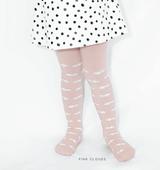 Kids Print Tights in blush pink clouds
