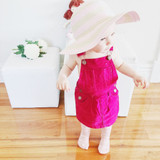 Kids Print Tights in blush pink clouds with pink dress