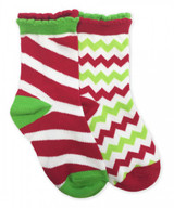 Christmas Kids Socks in Candy Cane and Chevron