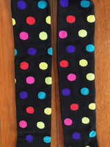 Polka Kid Tights - showing a close up of the spots.