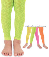 Fluro Wave Leggings available in lime, yellow, pink and orange.