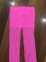 Fluro Wave Leggings in Hot Pink.