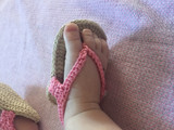 Newborn Crochet Sandals - Live on the Website!